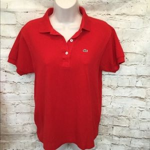 Lacoste size 6 red top